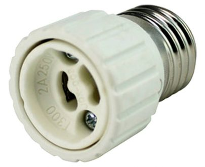 Adaptador bombillas todos los casquillos de E27 a GU10