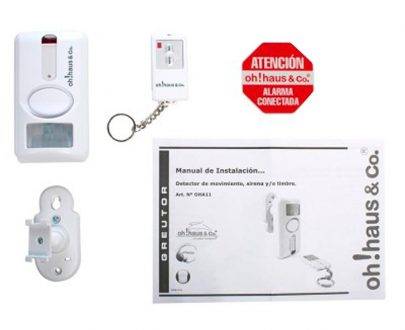 Alarma con detector de movimiento mando distancia
