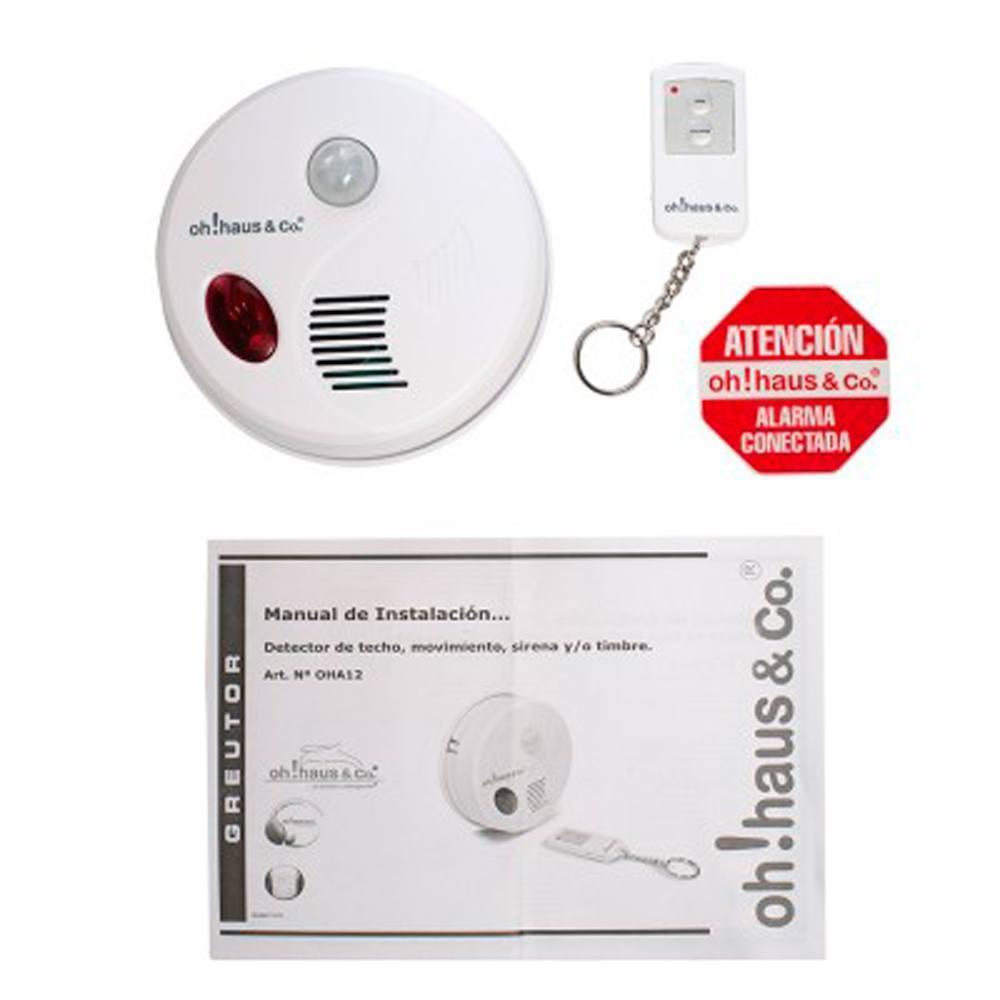 Alarma techo con detector de movimiento mando distancia