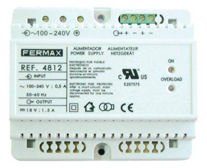 Alimentador DIN6 240Vac 18Vdc 1.5A Fermax 4812