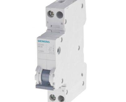 Automático magnetotérmico monofásico estrecho Siemens
