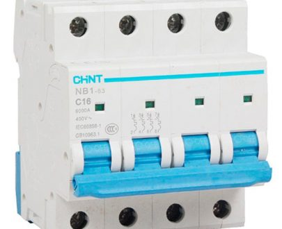 Automático magnetotérmico trifásico 3P+N Chint