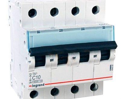 Automático magnetotérmico trifásico 3P+N Legrand