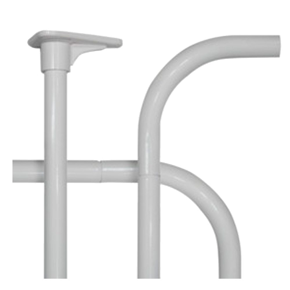 Barra en U para cortina baño aluminio blanco