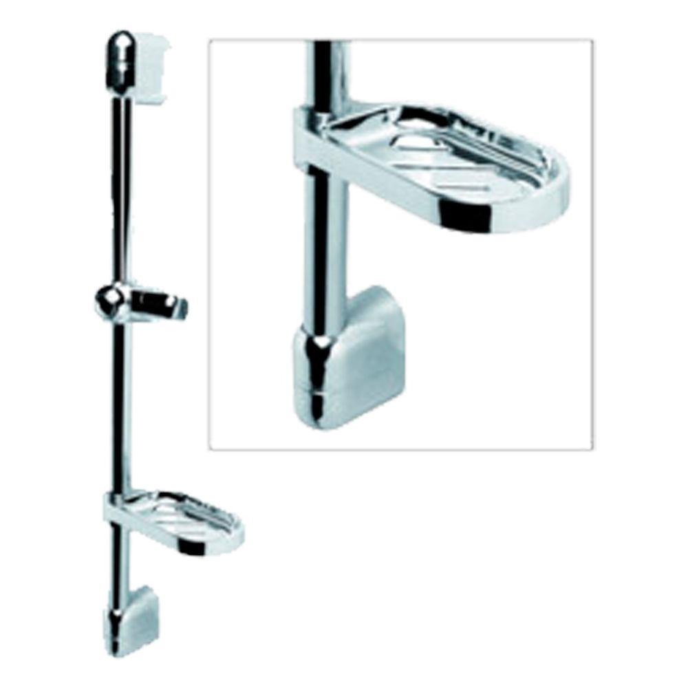 Barra de ducha cromo para baños y aseos