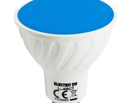 Bombilla led colores GU10 azul