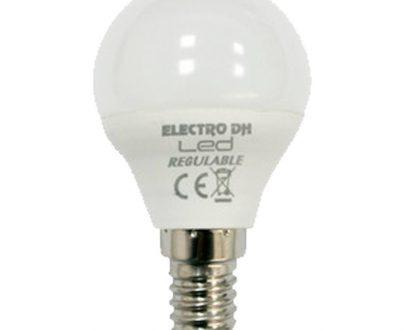 Bombilla led esférica regulable E14
