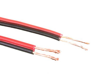 Cable audio paralelo rojo negro