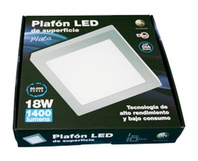 Caja del downlight led superficie cuadrado