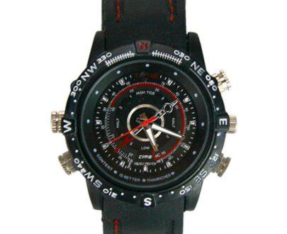 Cámara espía camuflada en reloj de pulsera
