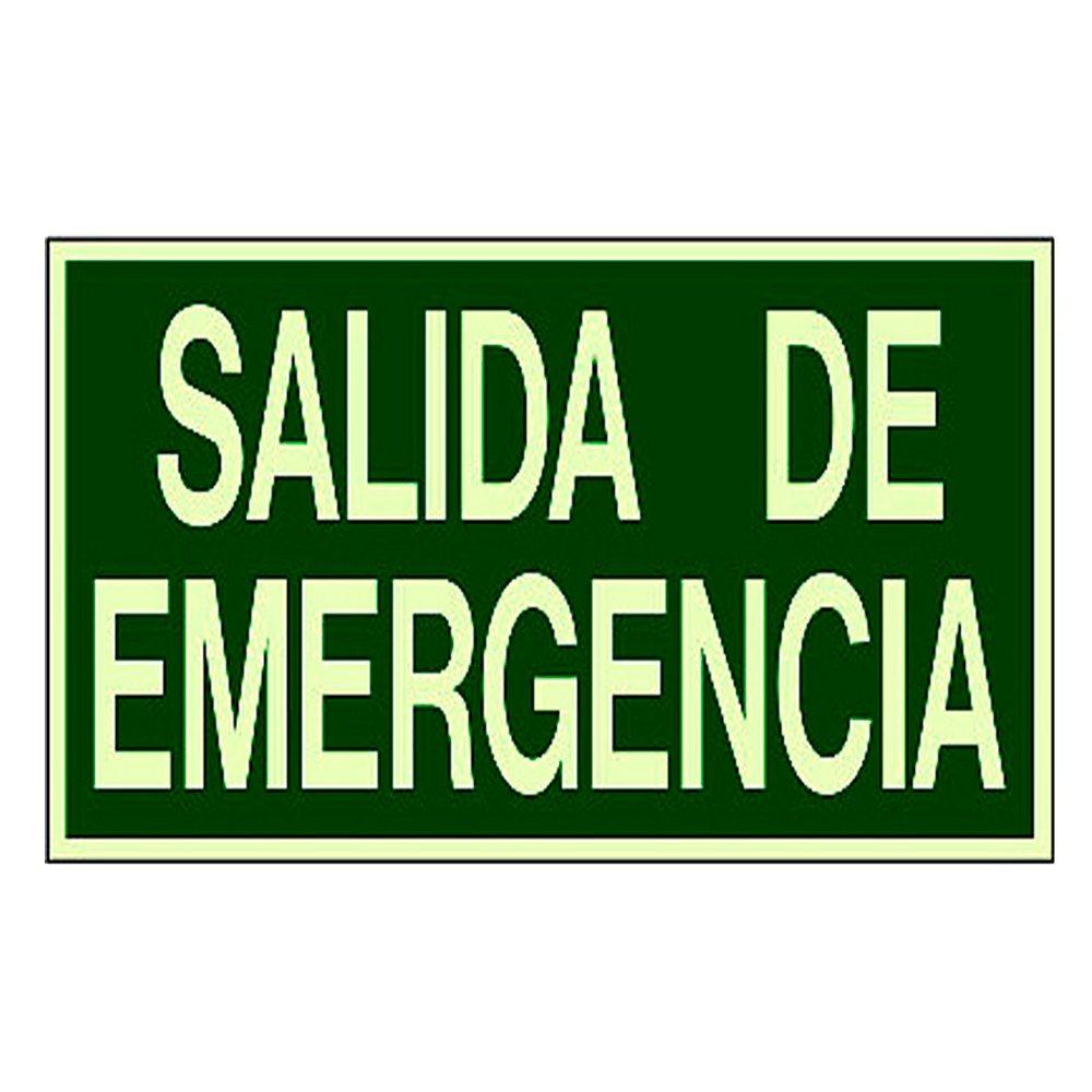 Cartel fotoluminiscente salida de emergencia