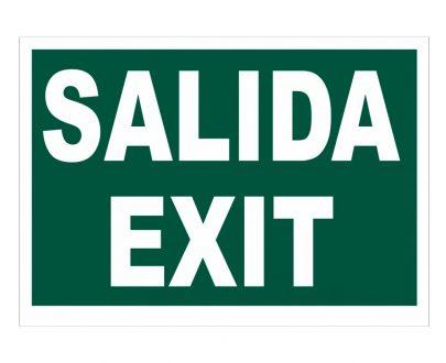 Cartel fotoluminiscente Salida Exit