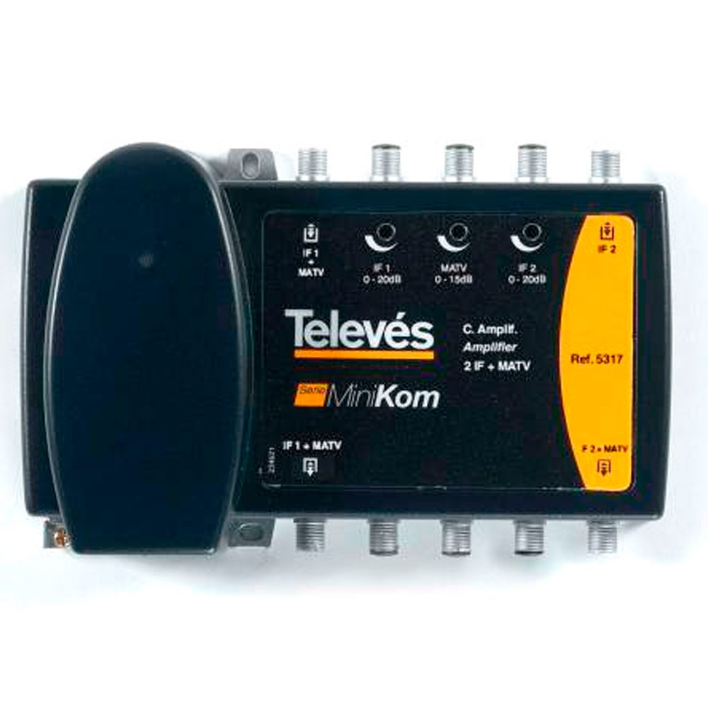 Central amplificadora Minikom 2FI + MATV Televes