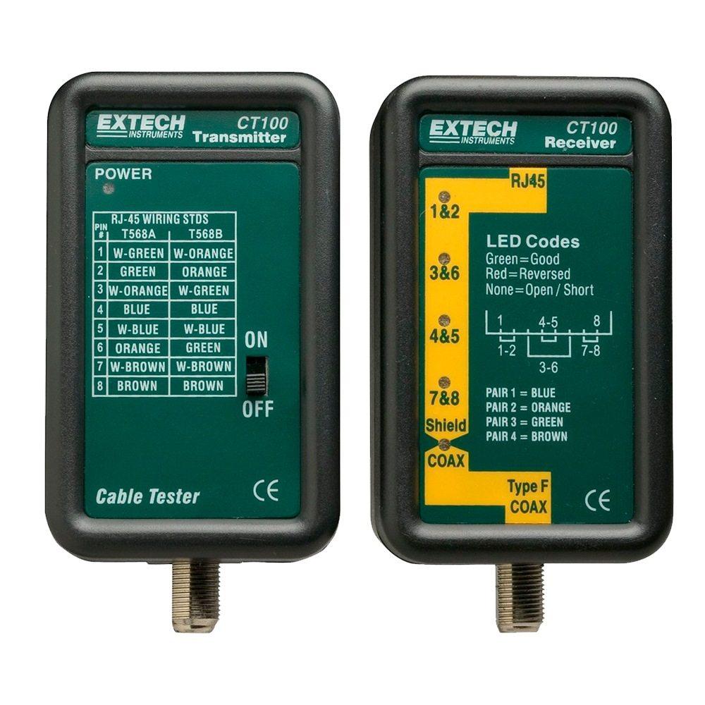 Comprobador cables datos Extech CT100