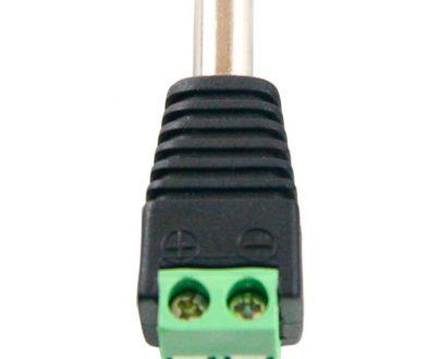 Conector DC hembra con salida 2 terminales