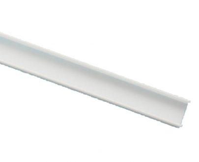 Cubierta mate perfil aluminio recto para tira led