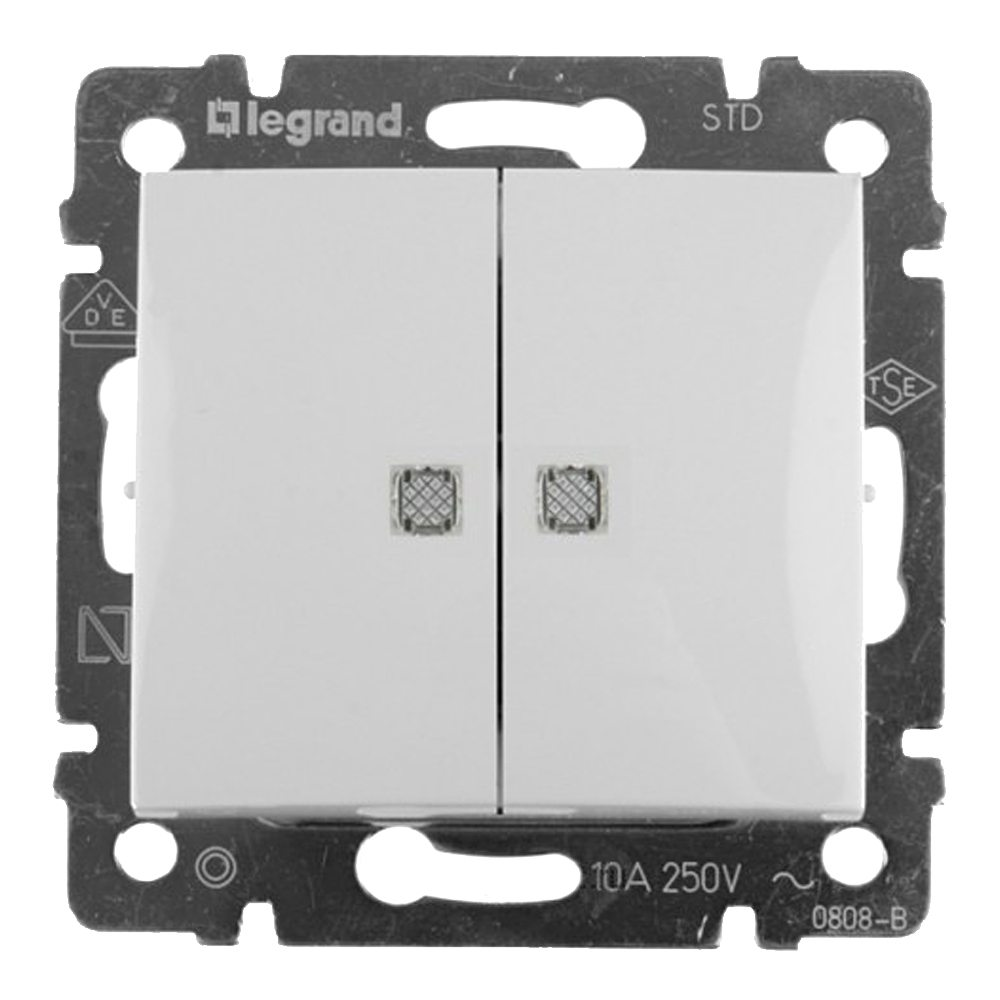 Doble interruptor luminoso Legrand Valena