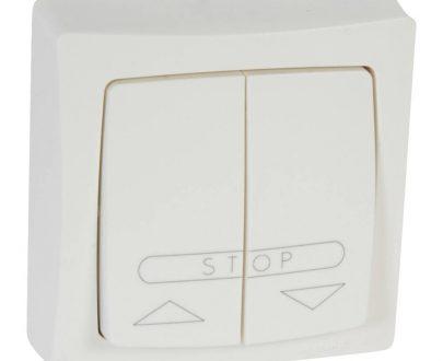 Doble interruptor persiana superficie Legrand Oteo