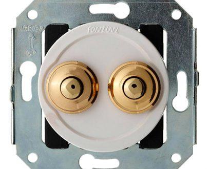 Doble pulsador botón oro Fontini Venezia