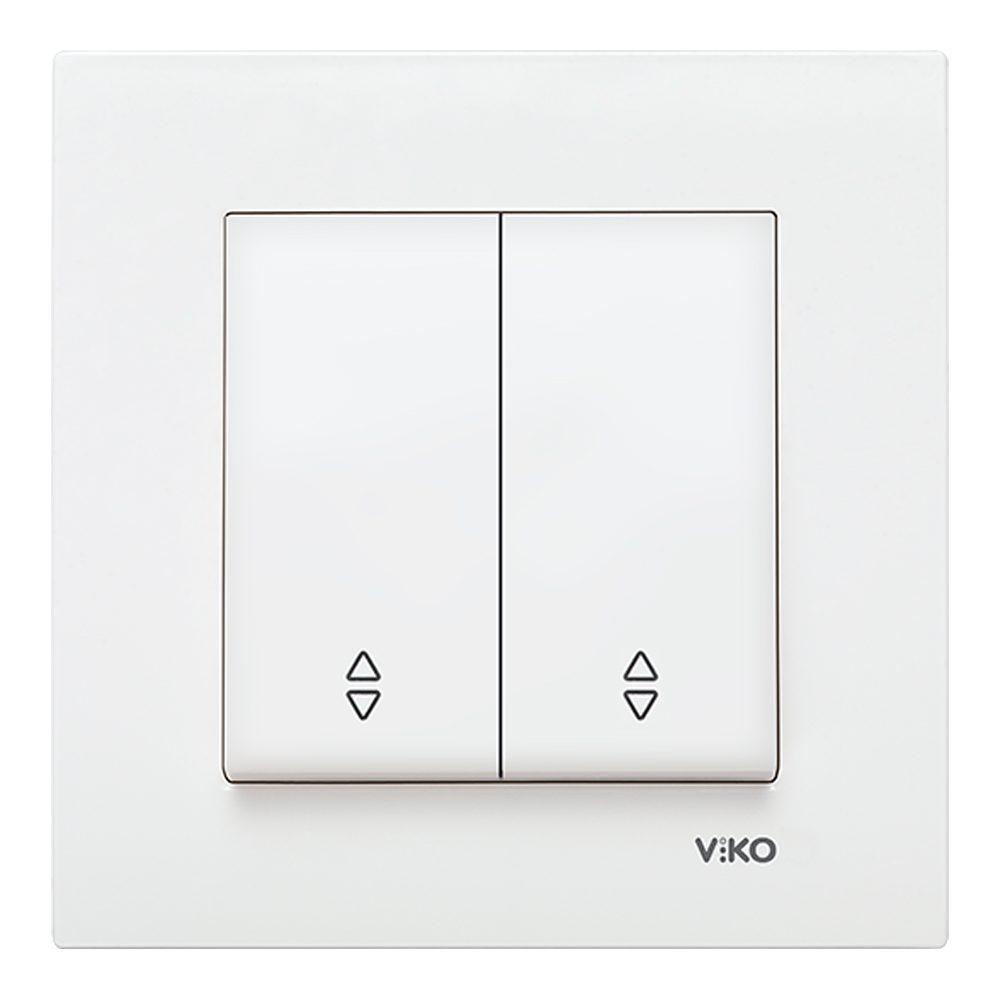 Doble pulsador persiana Viko Karre blanco
