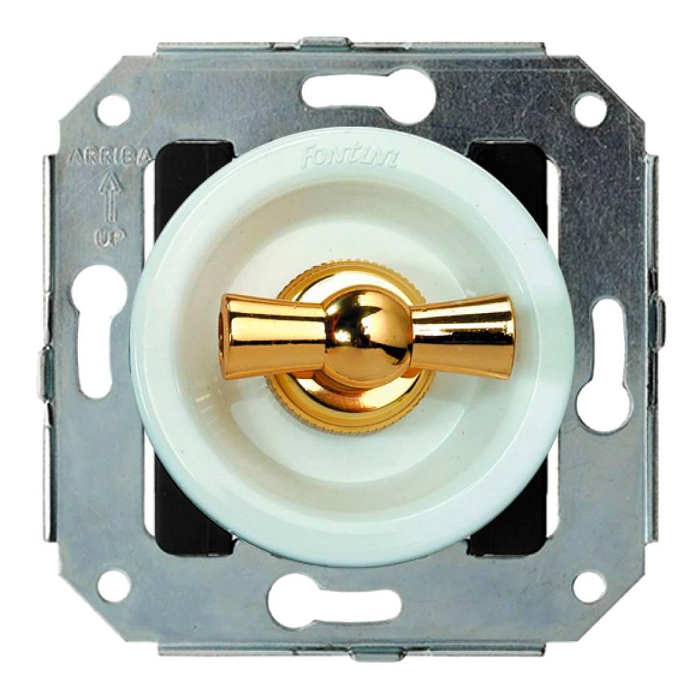 Doble pulsador rotativo oro Fontini Venezia