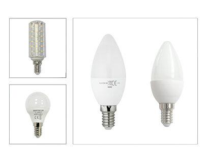E14 (Esférica, R50, Vela, Mini y Ventilador)