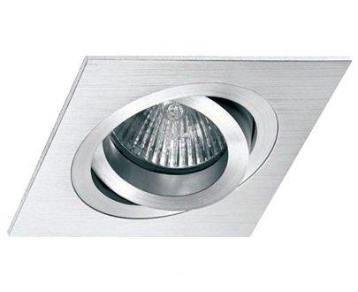 Empotrable halógeno aluminio cuadrado