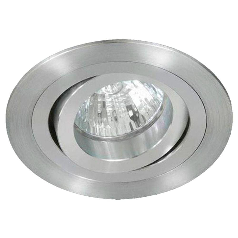 Empotrable halógeno aluminio redondo