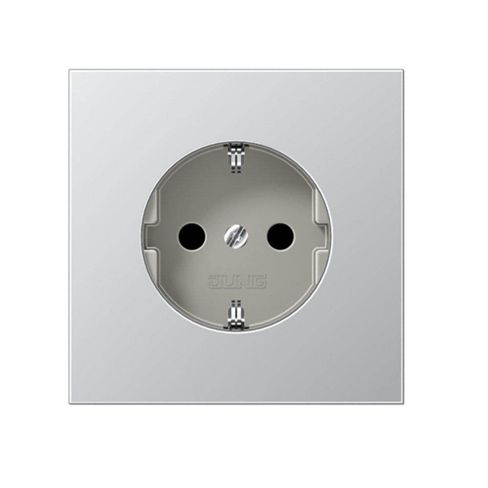 Base enchufe schuko completa Jung LS 990 aluminio