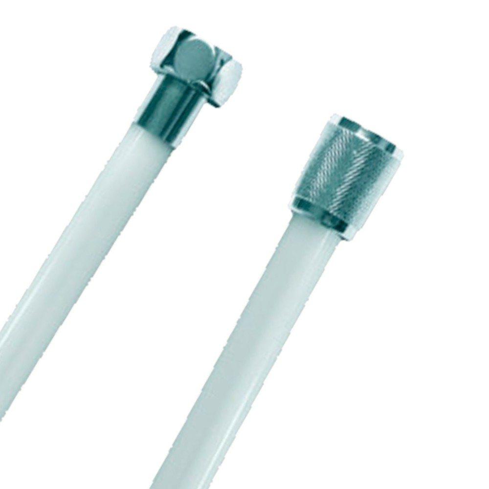 Flexo de ducha de PVC blanco