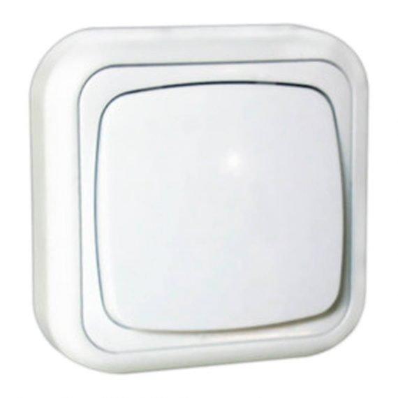 Interruptor bipolar superficie blanco
