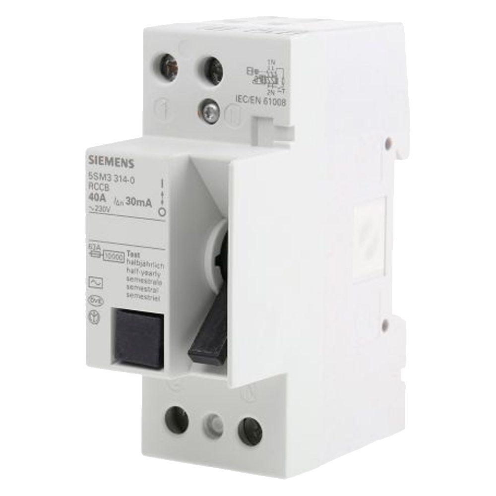 Interruptor diferencial monofásico vivienda Siemens