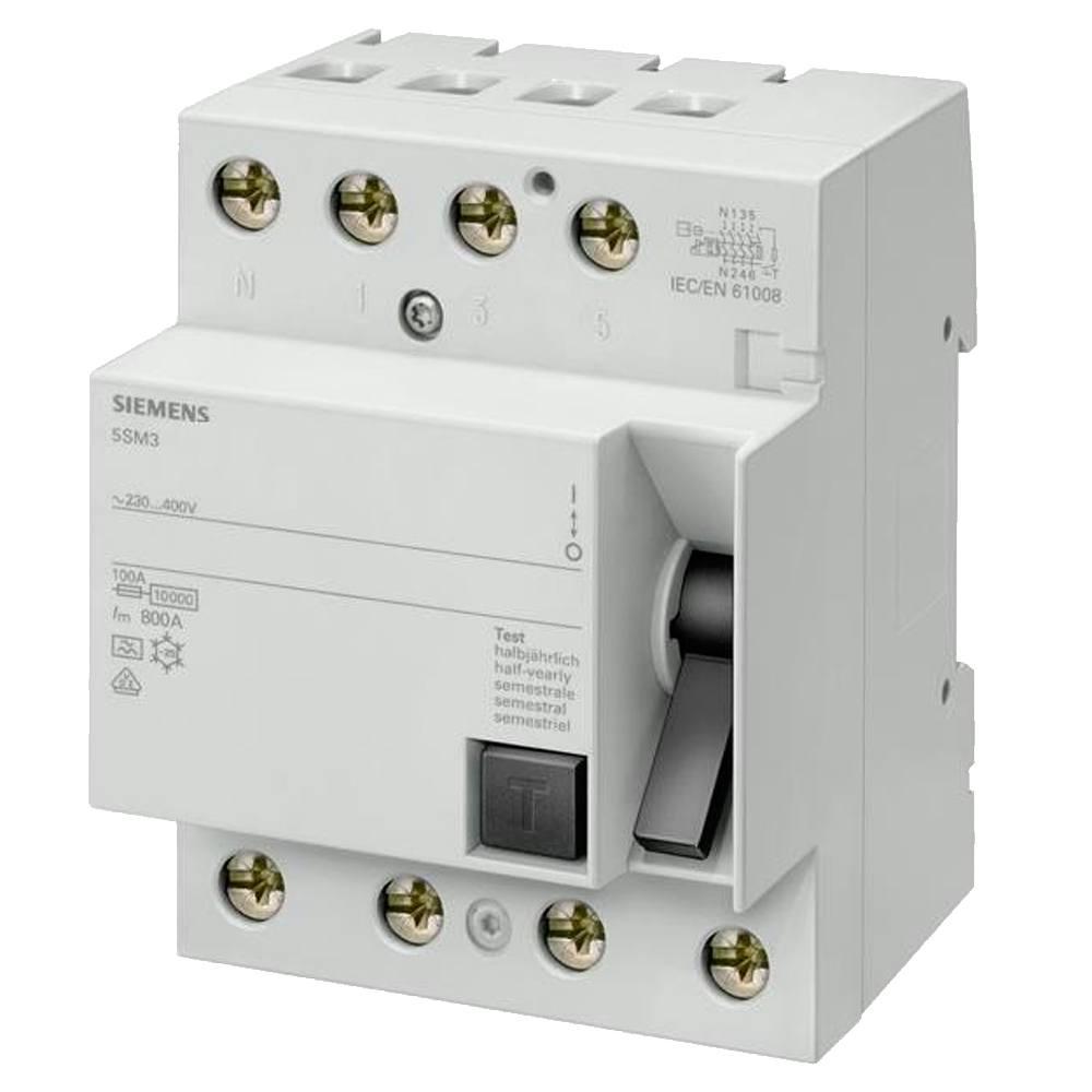 Interruptor diferencial trifásico 3P+N Siemens