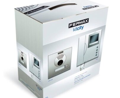 Kit videoportero blanco y negro Fermax