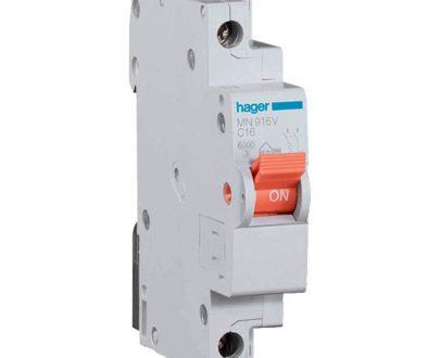 Automático magnetotérmico monofásico estrecho Hager