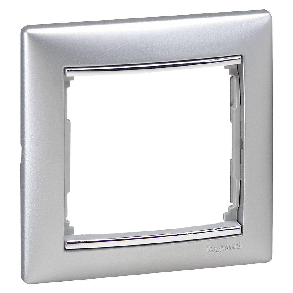 Marco aluminio plata Legrand Valena