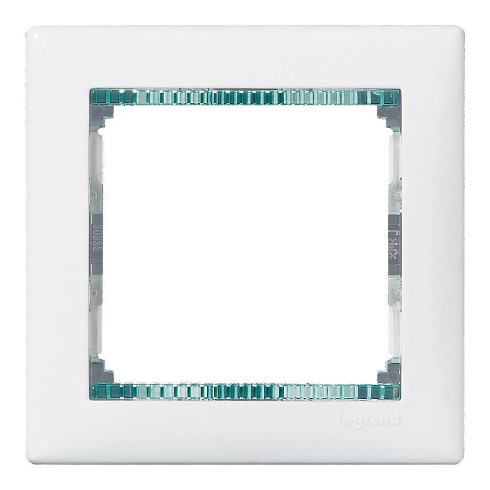 Marco blanco cristal Legrand Valena