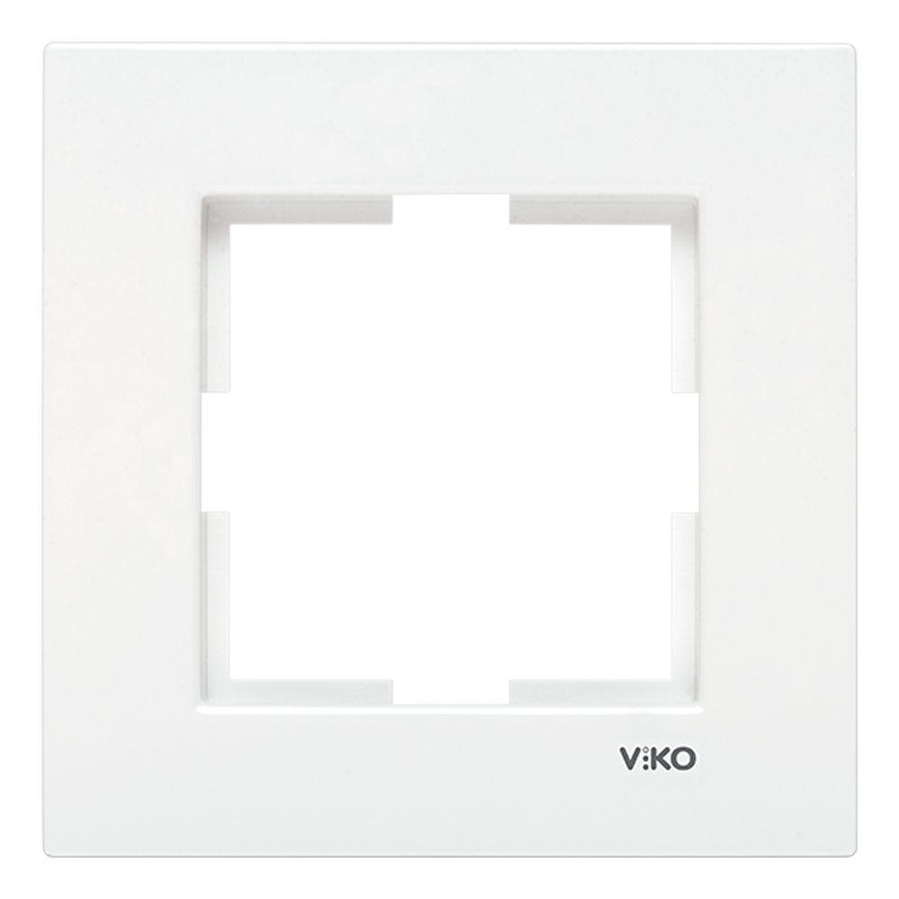 Marco blanco Viko Karre 1 elemento