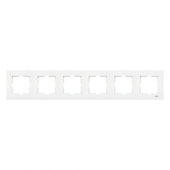 Marco blanco Viko Karre 6 elementos