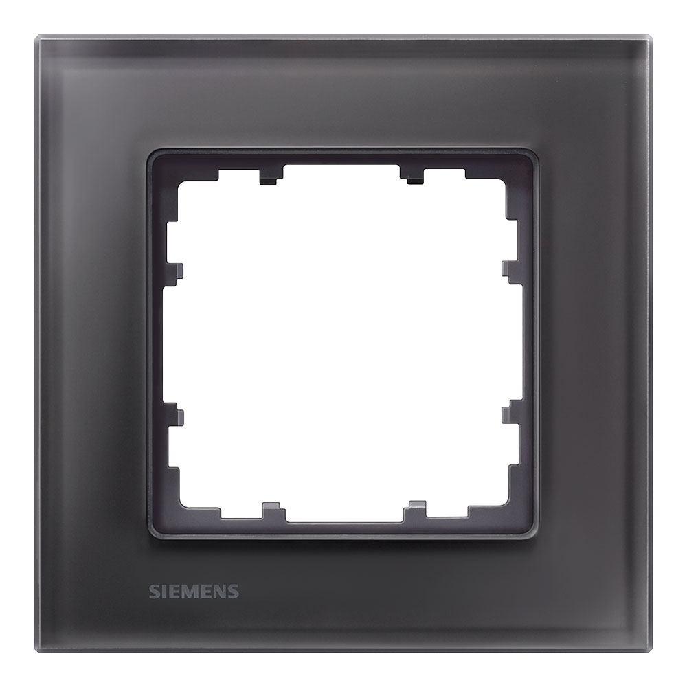 Marco cristal negro Siemens Delta Miro con envío rápido | Electro JJ