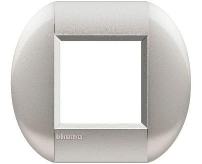 Marco redondo aluminio metalizado Bticino Light Tech