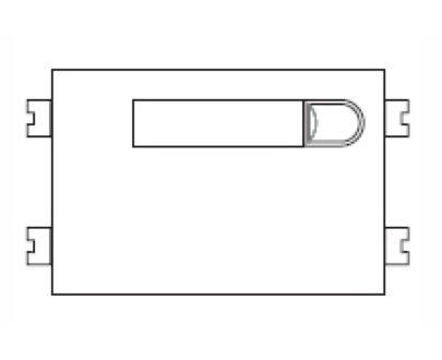 Módulo pulsadores Fermax VDS simple 1 vivienda