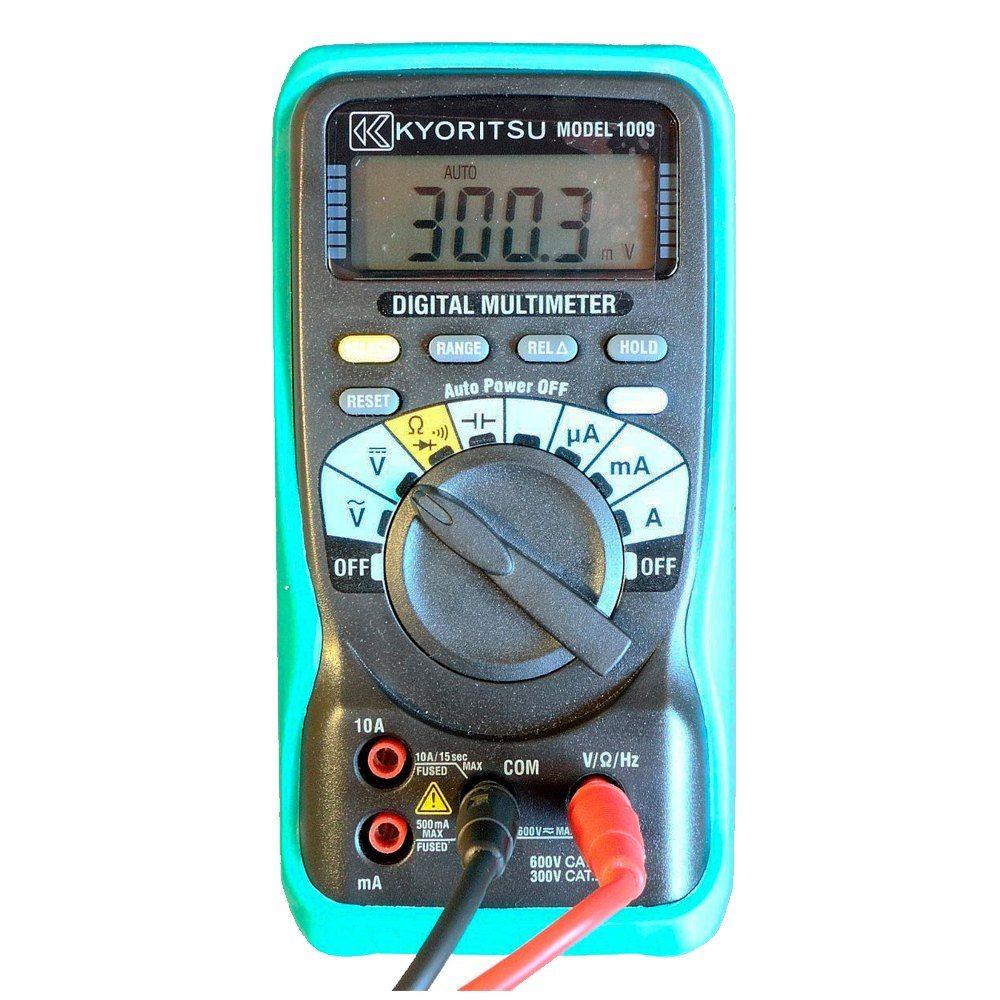 Multímetro digital compacto automático Kyoritsu 1009
