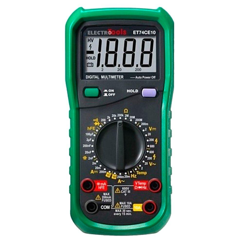 Multímetro digital compacto Electro Tools ET74CE10