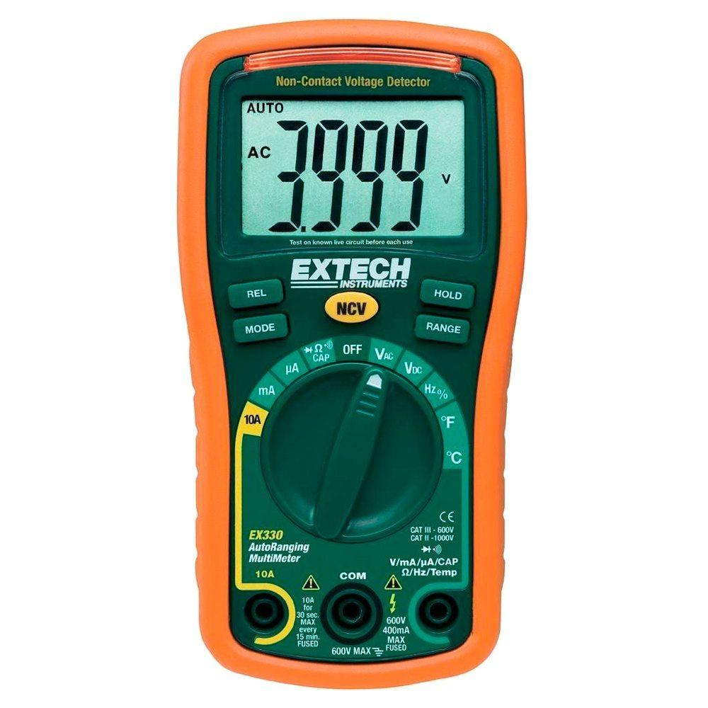Multímetro digital detector voltaje temperatura Extech EX330