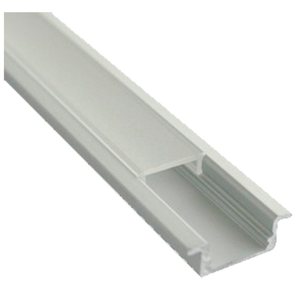 Perfil aluminio empotrar con faldón para tira led