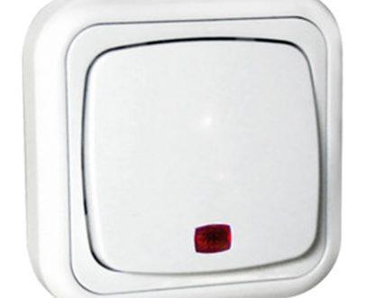 Pulsador superficie con luz blanco