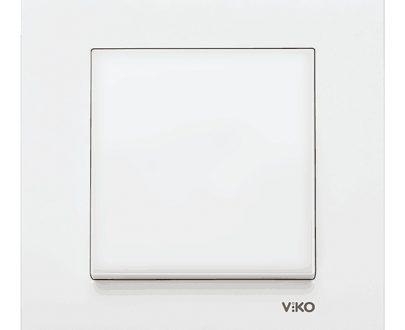 Tapa ciega Viko Karre blanco