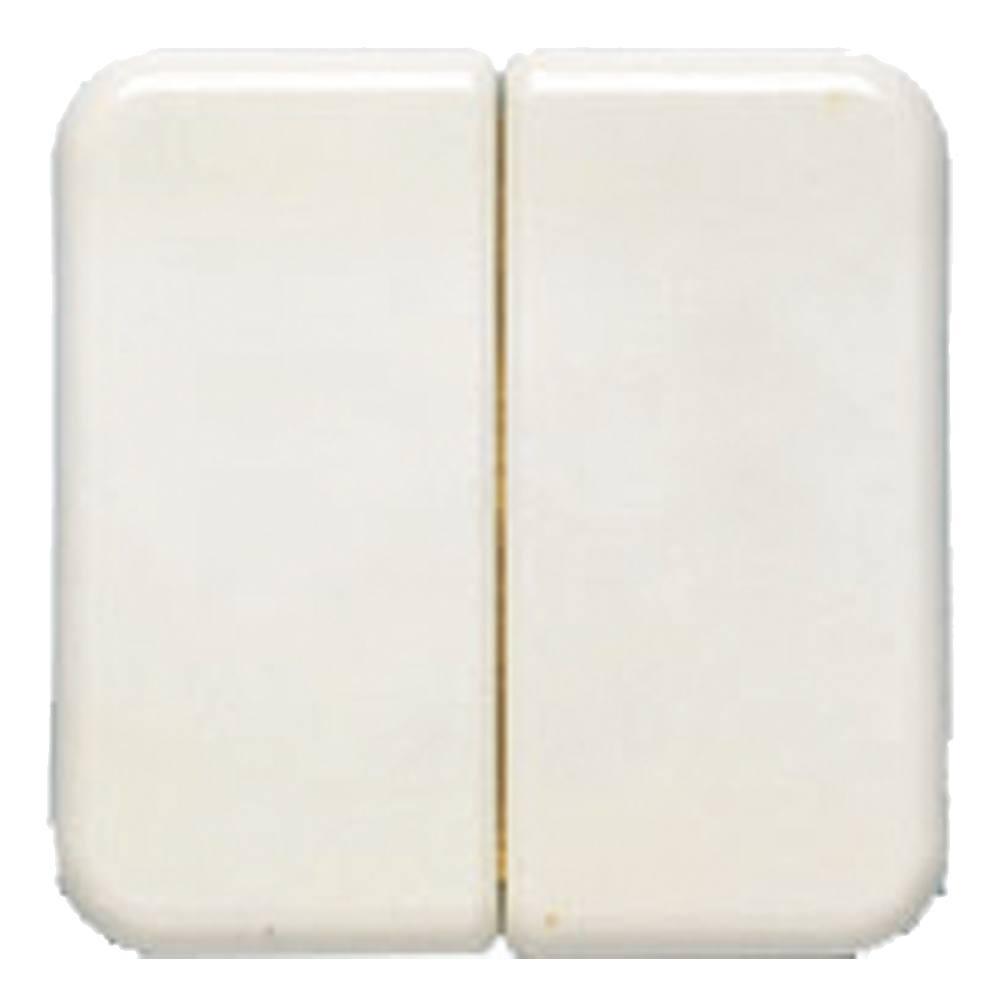 Tecla doble interruptor BJC Ibiza blanco 10709-B