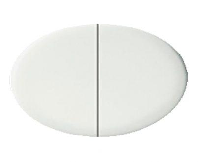 Tecla doble interruptor Niessen Tacto blanco